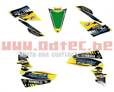 KIT DECO YAMAHA YFZ 450R JAUNE LIGHT 2009 > 2013
