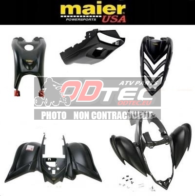 KIT CARROSSERIE, CARENAGE COMPLET MAIER USA YAMAHA Raptor 700 BLACK SERIES & STEALTH (5 PCS)