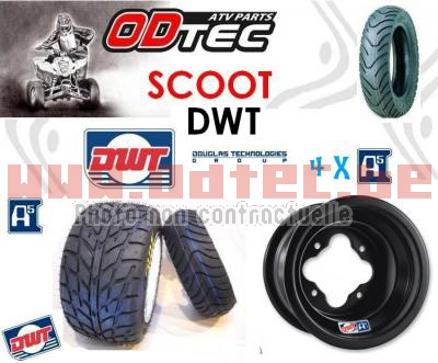 Pack Alu DWT A5 Scoot drift BLACK SERIES 130/70-10 + 225/45-10