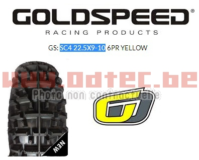 Goldspeed SC4 22.5X9-10 6PR YELLOW