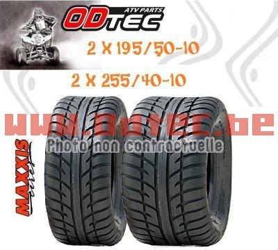 Pack Maxxis Spearz > 195/50-10 + 255/40-10 'N'