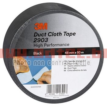 TAPE DUCT SCOTCH 2000 3M NOIR > 50 METRES