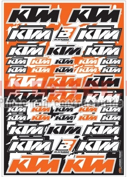 DECAL LOGO KIT KTM PVC QUALITE KIT DECO
