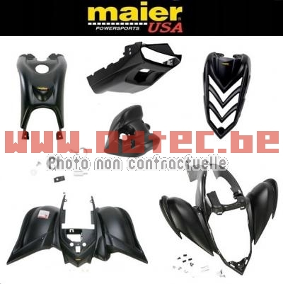 KIT CARROSSERIE, CARENAGE COMPLET MAIER USA YAMAHA Raptor 700 BLACK SERIES (6 PCS)