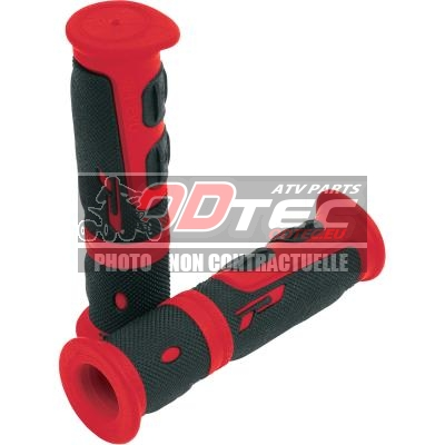 GRIPS DOUBLE DENSITY ATV 964 CLOSED END BLACK/RED