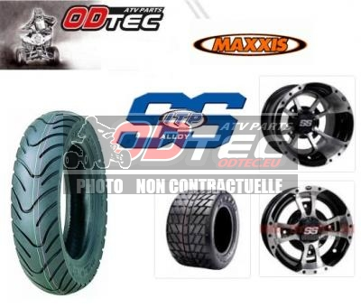 Pack Alu SCOOT SS112 MACHINED YAMAHA 130/90-10 + 225/40-10
